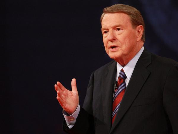 Jim Lehrer, when he moderated the the first 2008 presidential debate, at the University of Mississippi.