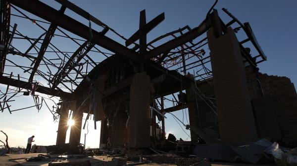 Joplin, Mo.; May 26: The ruins of Saint Mary's Catholic Church.