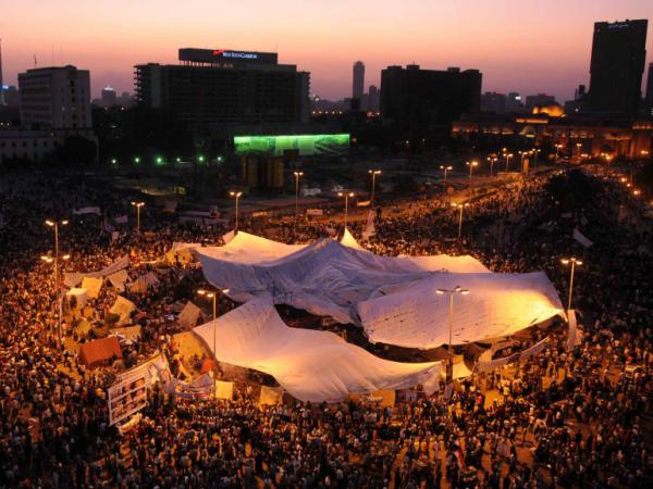 Thousands of Egyptians demonstrate in Cairo's Tahrir square on July 8. Many Egyptians say they are upset with the slow pace of reforms under the interim military rulers who took over after President Hosni Mubarak was ousted.