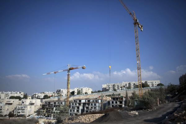 A new construction site in the east Jerusalem Jewish settlement of Gilo.