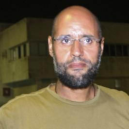 <p>Saif al-Islam Gadhafi, in Tripoli on Aug. 23, 2011.</p>