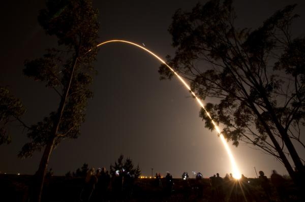 <p>A Delta II rocket launches with the NPOESS Preparatory Project (NPP) spacecraft  from Space Launch Complex 2 at Vandenberg Air Force Base, Calif.</p>