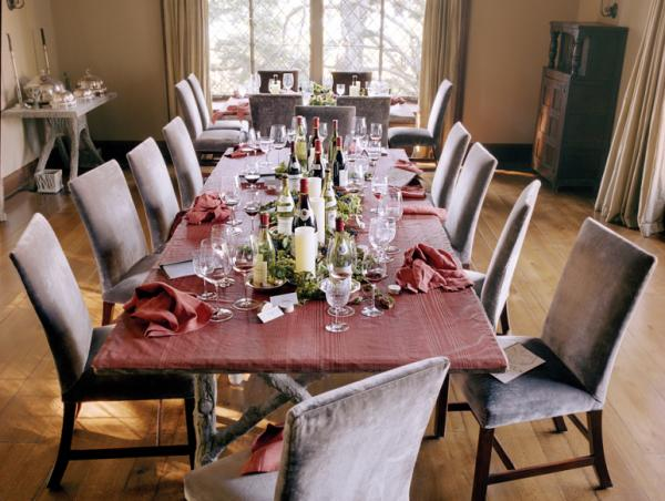 "The aftermath of Stewart's burgundy dinner is documented in <em>Martha's Entertaining</em>. <a href=""http://ow.ly/7MQhh"">Click here to see a Q&A about entertaining on<em> The Martha Stewart Show.</em></a>"