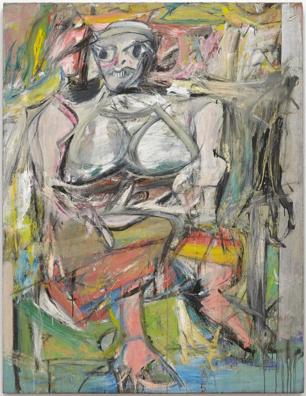 "<em>Woman I </em>(1950-52) is one of the works featured in <a href=""http://www.moma.org/interactives/exhibitions/2011/dekooning/"">de Kooning: A Retrospective</a>. The exhibit is on display at the Museum of Modern Art through Jan. 9, 2012."
