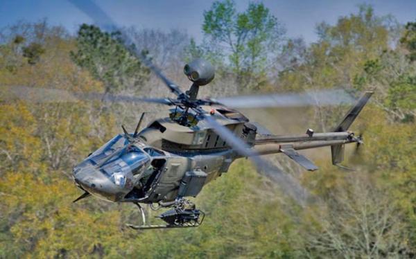 OH-58 Kiowa Warrior. Photo courtesy Bell Helicopter