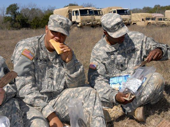 The shelf-stable pocket sandwich gives soldiers a portable ration that they can eat on the go.