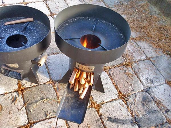 A clean, efficient cookstove designed for low-cost manufacturing in Africa. Photo by Tom Banse