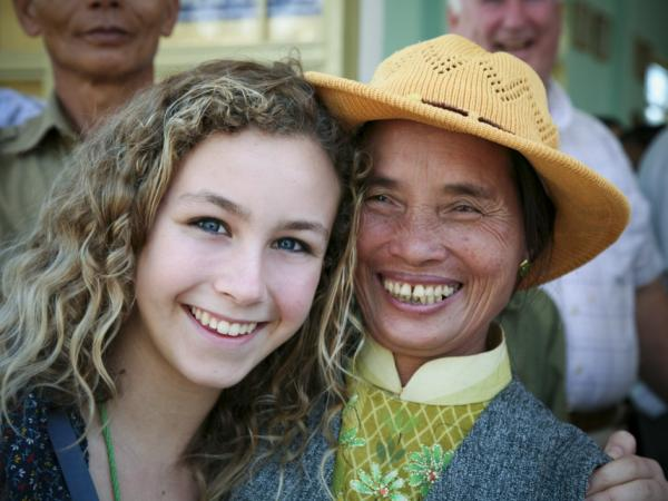 Lydia Lapporte on a Heifer International study tour in Vietnam in 2009. Lapporte helped raise about $20,000 this year for Heifer from her family and friends.