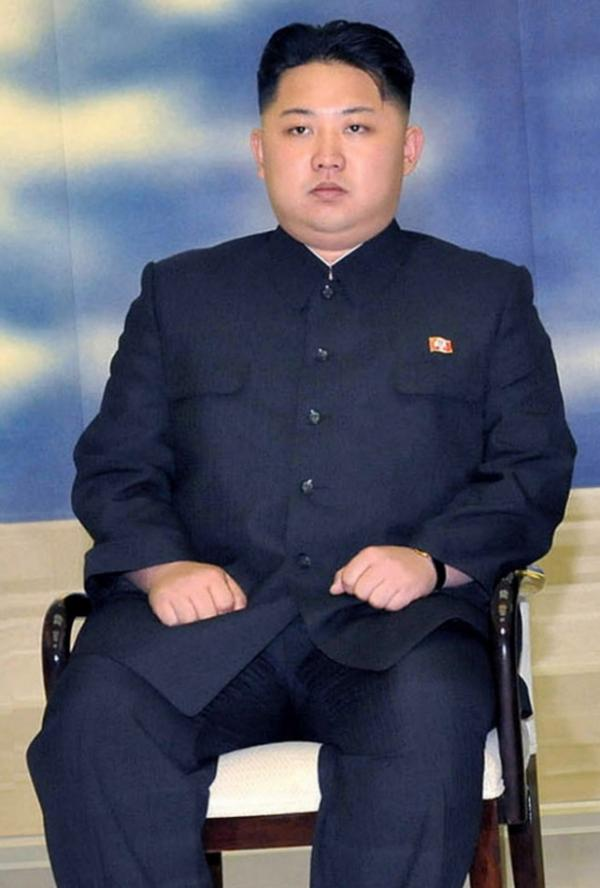 North Korea's official Korean Central News Agency distributed this photo of Kim Jong Un on Sept. 23.