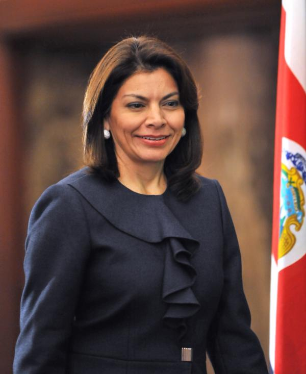Costa Rican President Laura Chinchilla, seen in Tokyo in December, says drug cartels are a greater threat to Costa Rica than  the region's conflicts during the Cold War.