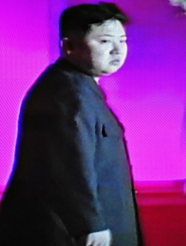 This screen shot from North Korean TV foottage shows Kim Jong-Un as he came to view his father's remains.