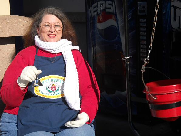 Lynn Smith has been ringing a Salvation Army bell since Thanksgiving outside a grocery store in Ventura, Calif. A former travel agent, she works 8 hours a day for minimum wage.