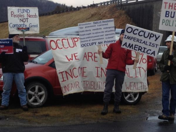 Occupy protesters gathered in Littleton, N.H. on Thursday.