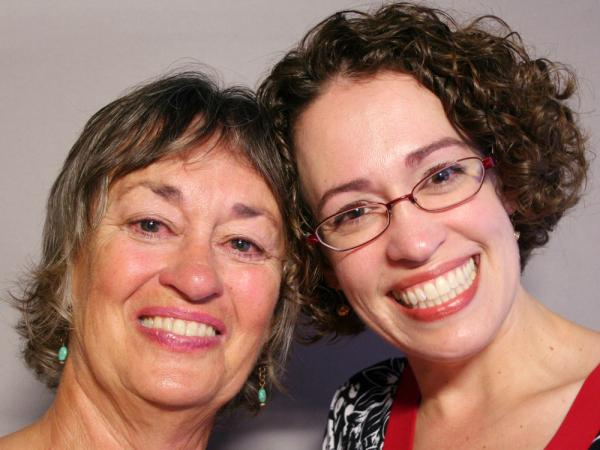 Penelope Simmons, 64, and her daughter, Suzanne Wayne, 39, visited StoryCorps in Bellefonte, Pa.