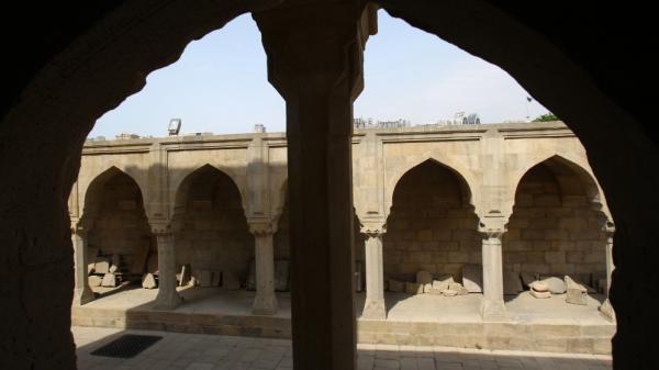 A view of the 16th-century Shirvanshakhs palace in Azerbaijan's capital city, Baku.