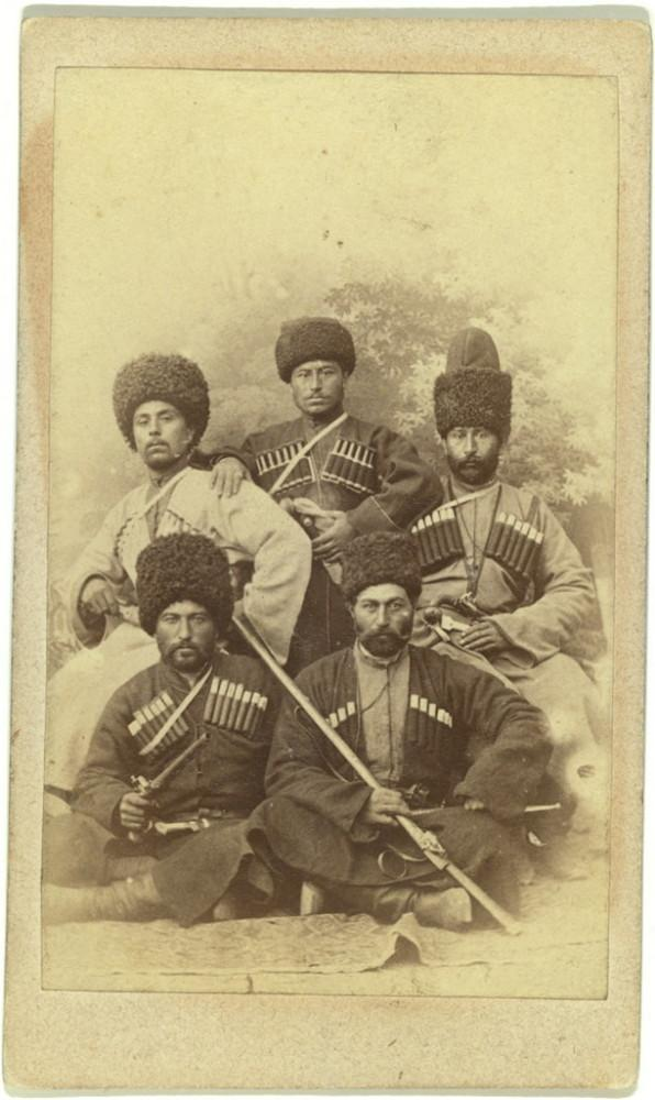These guys aren't playing basketball this season. But they were photographed in the Caucasus region, some time between 1870 and 1886.