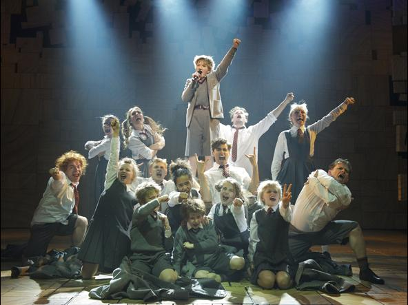 The West End production of the Royal Shakespeare Company's <em>Matilda the Musical</em> opened at the Cambridge Theatre on Nov. 24.