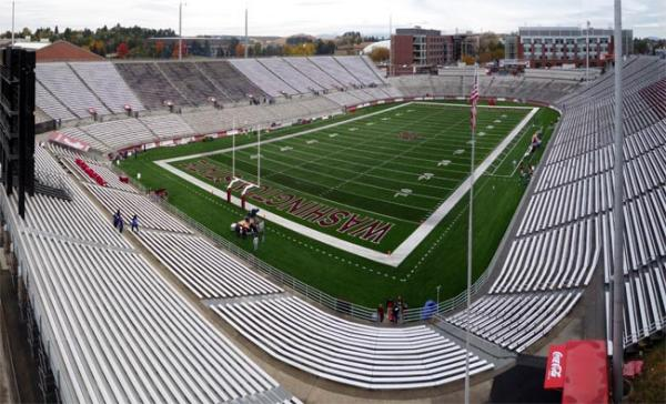 A 2008 view of Martin Stadium on the Washington State University campus in Pullman, Washington. Photo by Bobak Ha'Eri