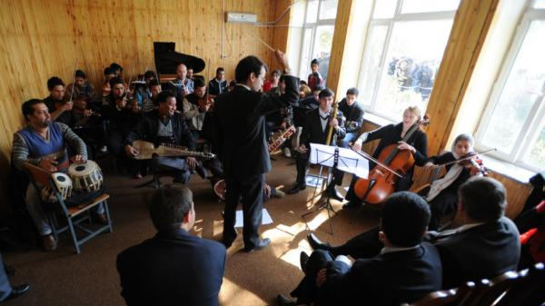 A performance at the Afghan National Institute of Music in November of 2010.