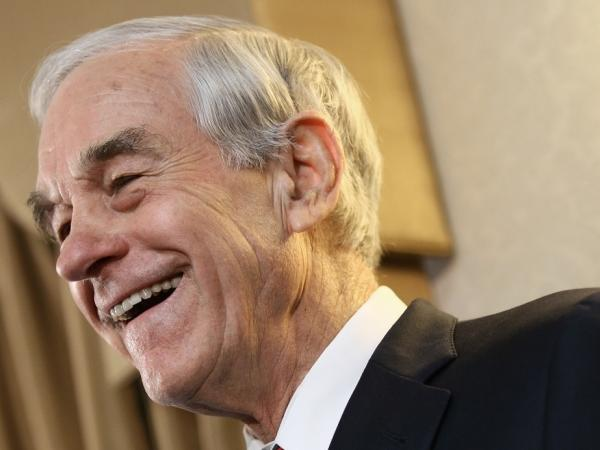 Republican presidential candidate U.S. Rep Ron Paul (R-TX) speaks at a campaign event during his 'Whistle-stop' tour at the Steeple Gate inn in Jan. 2, 2012 in Davenport, Iowa.