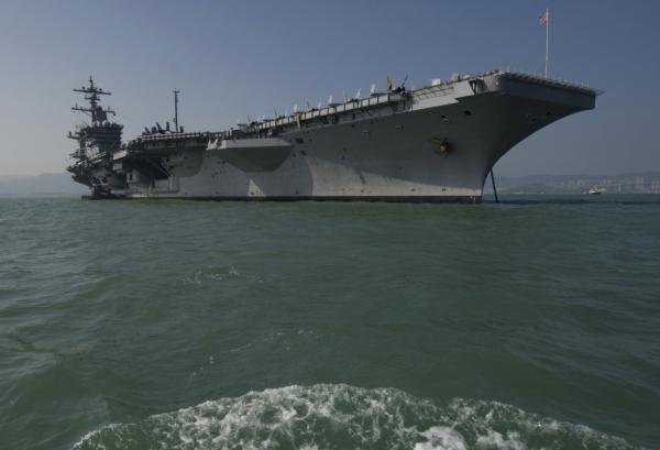 The USS Carl Vinson, an aircraft carrier, near Hong Kong last month.