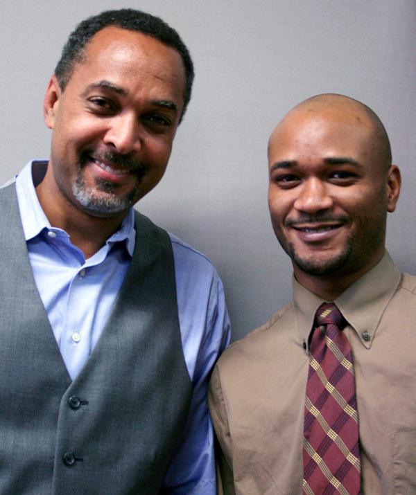 Craig Williams (left) spoke with his business partner, Richard Bennett, at StoryCorps in Norristown, Pa.