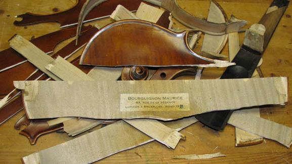This is all that remains of a violin PayPal asked a buyer to destroy.