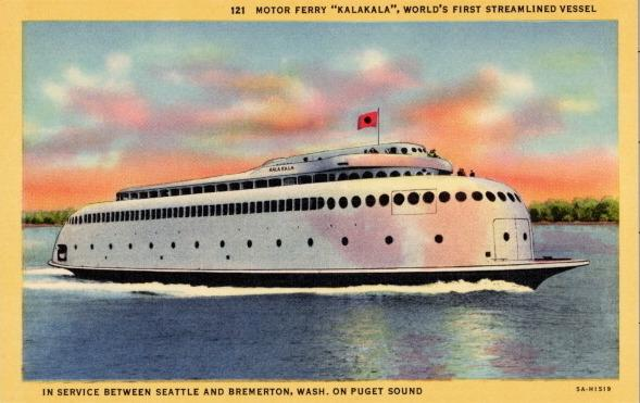 When it debuted in 1935, the Kalakala was the fastest and largest ferry on Puget Sound.
