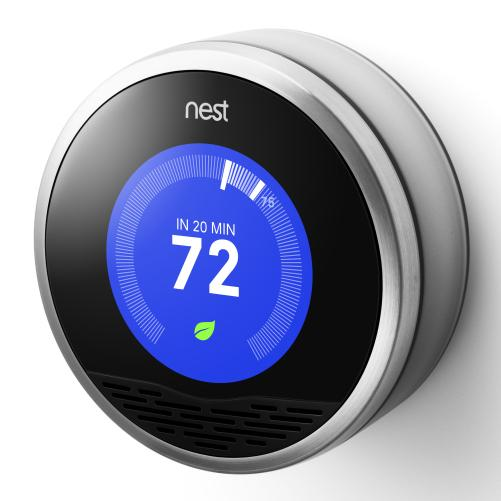 "<a href=""http://www.nest.com/living-with-nest/"">Nest's thermostat</a> observes patterns in your house, then programs itself."
