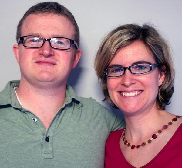 Nathan Hoskins told Sally Evans the story of how his mother tried to scare him out of being gay, during a visit to StoryCorps in Lexington, Ky.