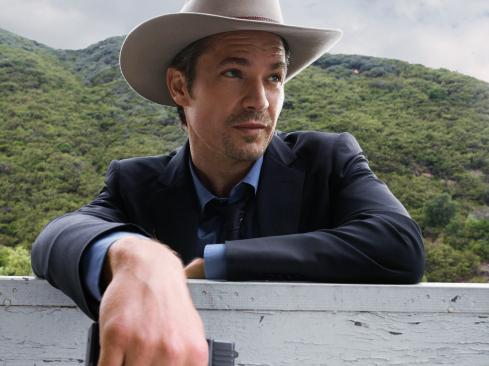 Timothy Olyphant plays Raylan Givens, a present-day U.S. marshal with Wild West inclinations on the FX series <em>Justified</em>.