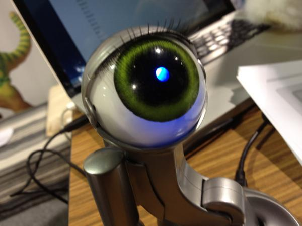 The Computer Companion is a giant blinking eyeball on a stick.