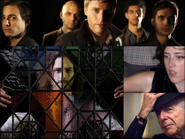 Gotye (clockwise from bottom left), White Rabbits, Jana Hunter from Lower Dens, Leonard Cohen