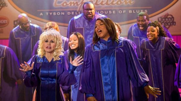 "Oscar nominees Dolly Parton and Queen Latifah star in the new film <em>Joyful Noise. </em>Parton wrote a dozen songs for the movie. ""Well, I love to write,"" she says. ""Especially when I've got a challenge."""