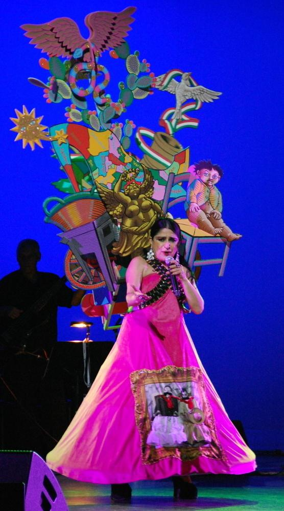 Astrid Hadad performs in Mexico.