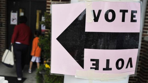 A polling station in Columbia, S.C., earlier today (Jan. 21, 2012).