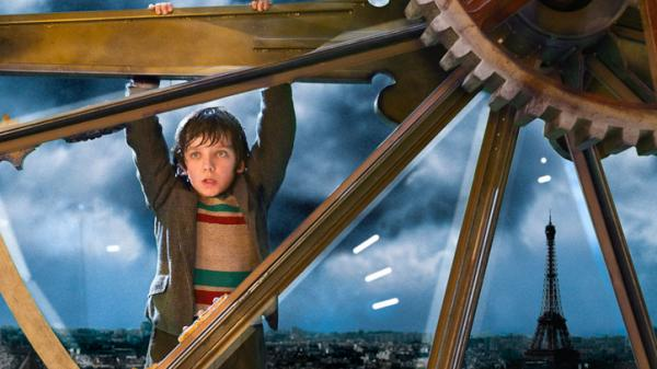 "<strong></strong>In the movie ""Hugo,"" abandoned by an alcoholic uncle after the death of his father, Hugo services the train station tower clock by day and sleeps in it by night."