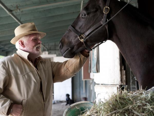 Nick Nolte plays a horse owner who spent most of his career working as a horse trainer in <em>Luck</em>.