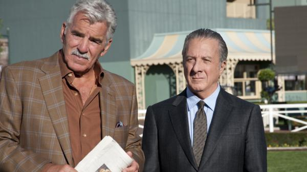 "HBO's new drama <em>Luck</em> is set at a California racetrack. Dennis Farina (left) co-stars with Dustin Hoffman, who plays Chester ""Ace"" Bernstein, a newly released felon with a penchant for thoroughbreds."