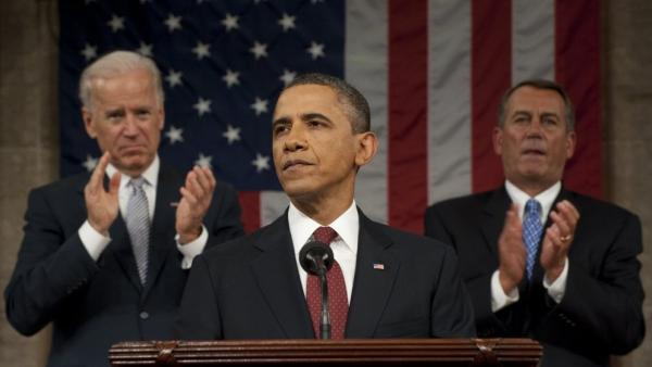 President Obama speaks during his State of the Union address on Tuesday in Washington, D.C.