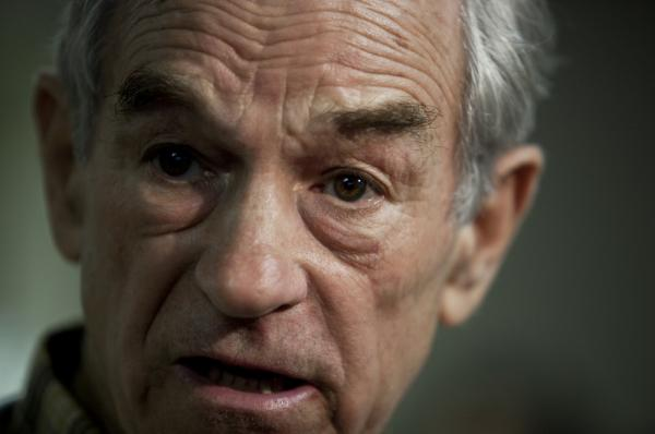 U.S. Rep. Ron Paul, shown at a campaign stop in South Carolina, spoke with NPR's <em>All Things Considered</em> today about the upcoming primaries, the possibility of a third-party run, taxes and other issues.
