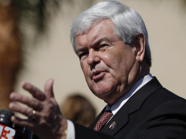 While talking with the media outside the Exciting Idlewild Baptist Church in Lutz, Fla., on Sunday, former House Speaker Newt Gingrich called for a commission to look at new rules for clinics that perform in vitro fertilization.
