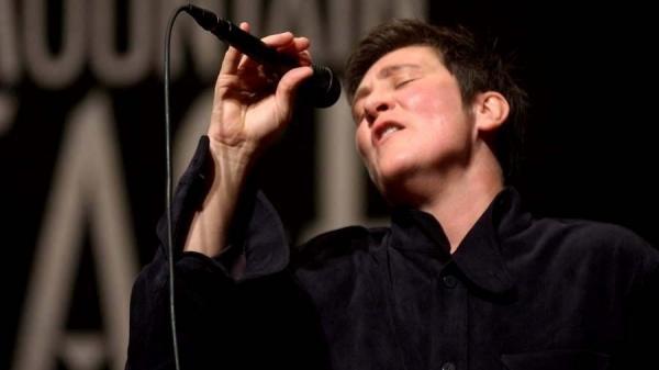 k.d. lang performs on <em>Mountain Stage</em>, way back in 2004.