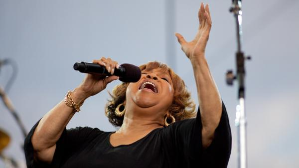 <p>Mavis Staples performs with The Roots at the Climate Rally on the National Mall on April 25, 2010, in Washington, D.C.</p>