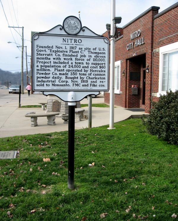 The town of Nitro has its beginnings in 1917, when the U.S. government created it as a place to locate a munitions plant.