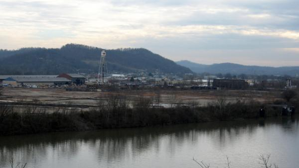 The former Monsanto chemical plant site along the Kanawha River, where for more than 20 years, the plant produced a herbicide that is the principal component of Agent Orange.