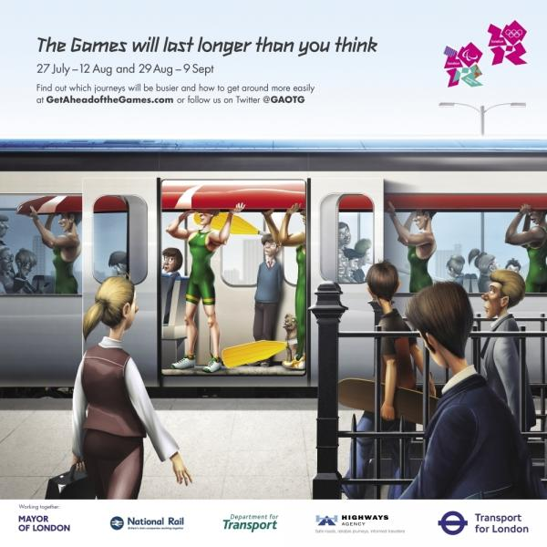 The Transport for London website prepares commuters for the London games.