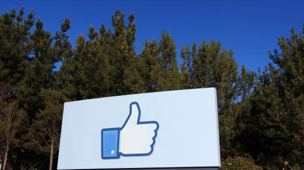 "A giant ""like"" icon made popular by Facebook is seen at the company's new headquarters in Menlo Park, Calif."