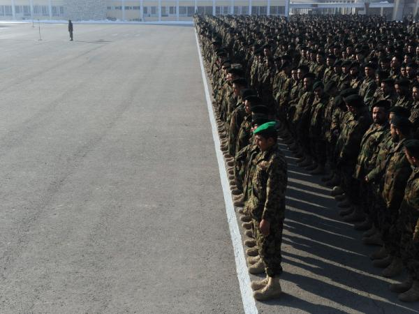 Newly graduated Afghan National Army soldiers attend their graduation ceremony in Kabul on Jan. 26, 2012. As the U.S. tries to shape the ANA into an effective fighting force, the Taliban may set up an office in Qatar for negotiations.