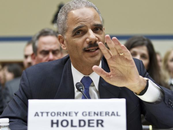 Attorney General Eric Holder testifies Thursday before the House Oversight and Government Reform Committee.